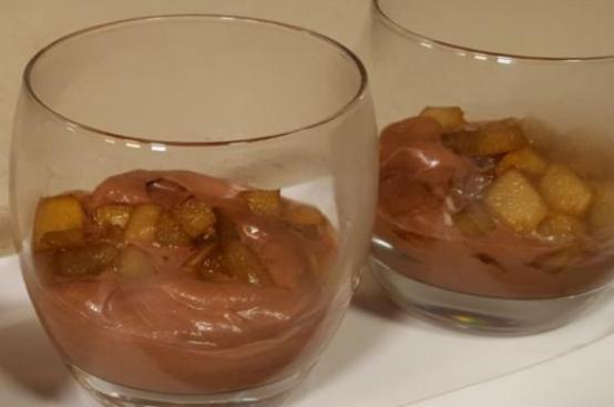 Mousse di pere e cioccolato