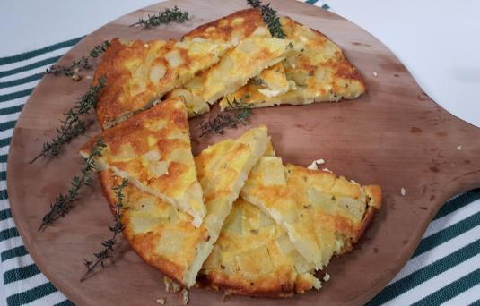 Frittata al forno con patate e cipolle