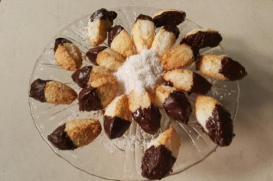 Biscotti Al Cocco E Cioccolato Cotto E Mangiato