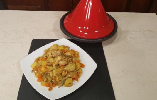 Tajine di pollo all'italiana