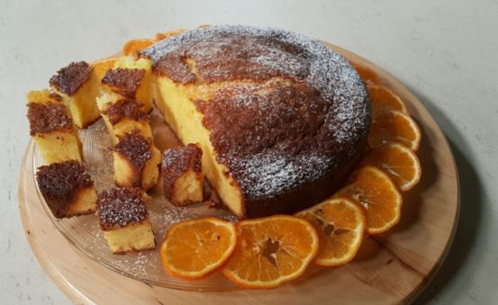 Torta al profumo di mandarino