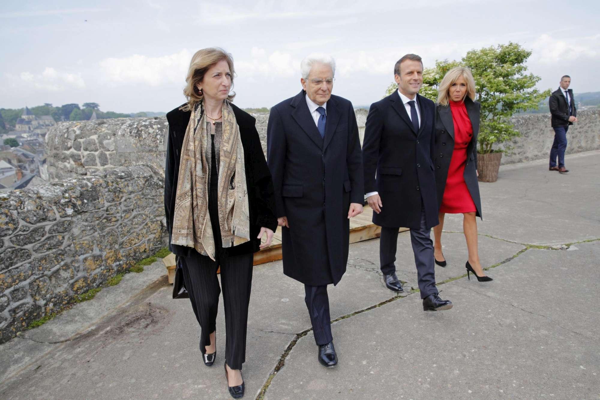 Amboise, omaggio di Mattarella e Macron alla tomba di Leonardo Da Vinci
