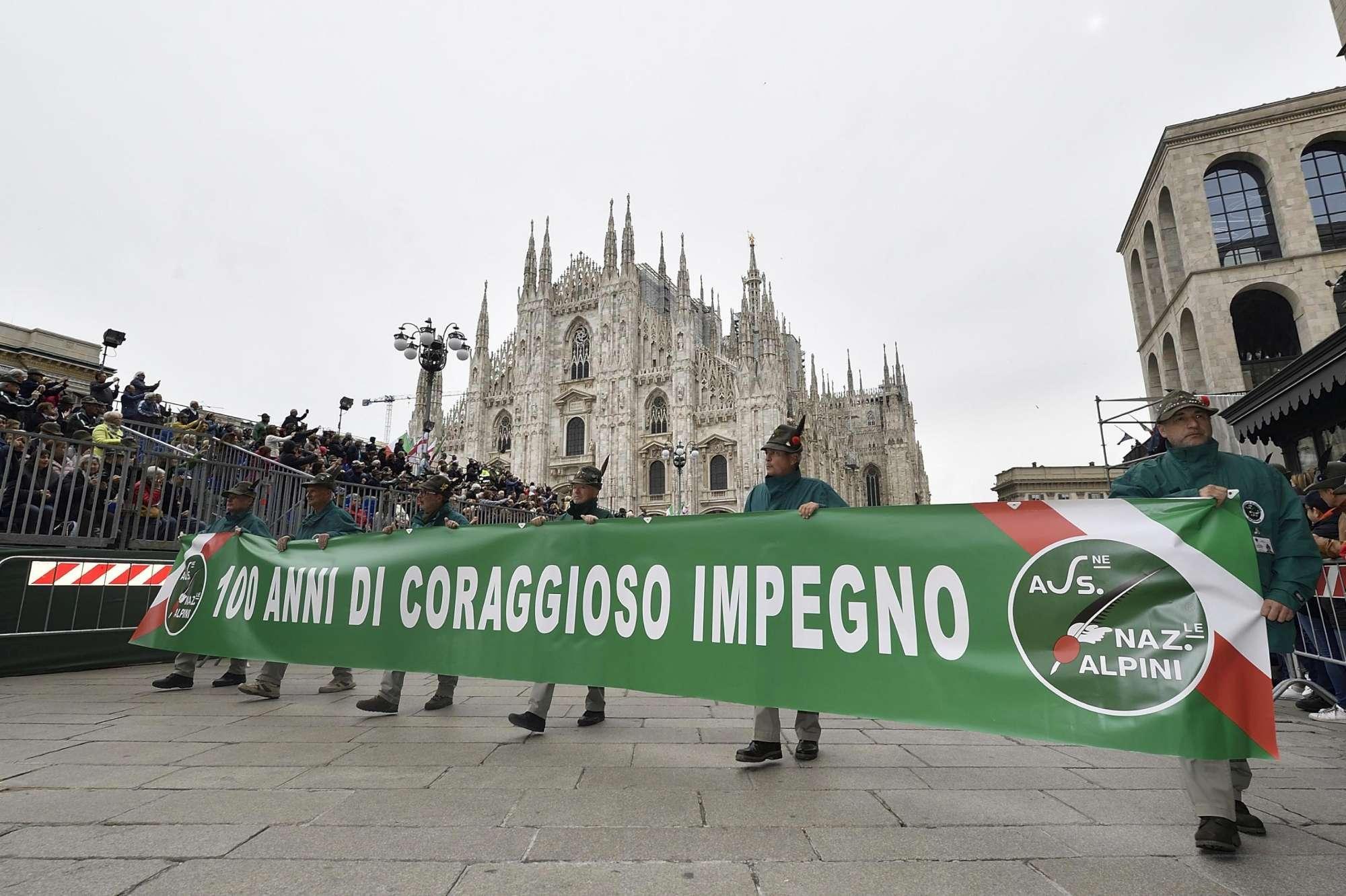 Centenario degli Alpini, l'adunata a Milano