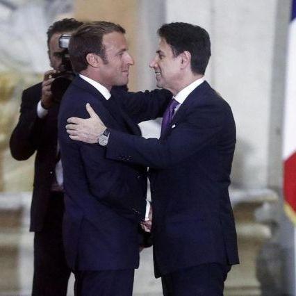 Incontro tra il premier Conte ed Emmanuel Macron a Palazzo Chigi