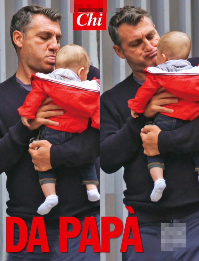 Bobo Vieri papà tenerissimo con la sua Stella