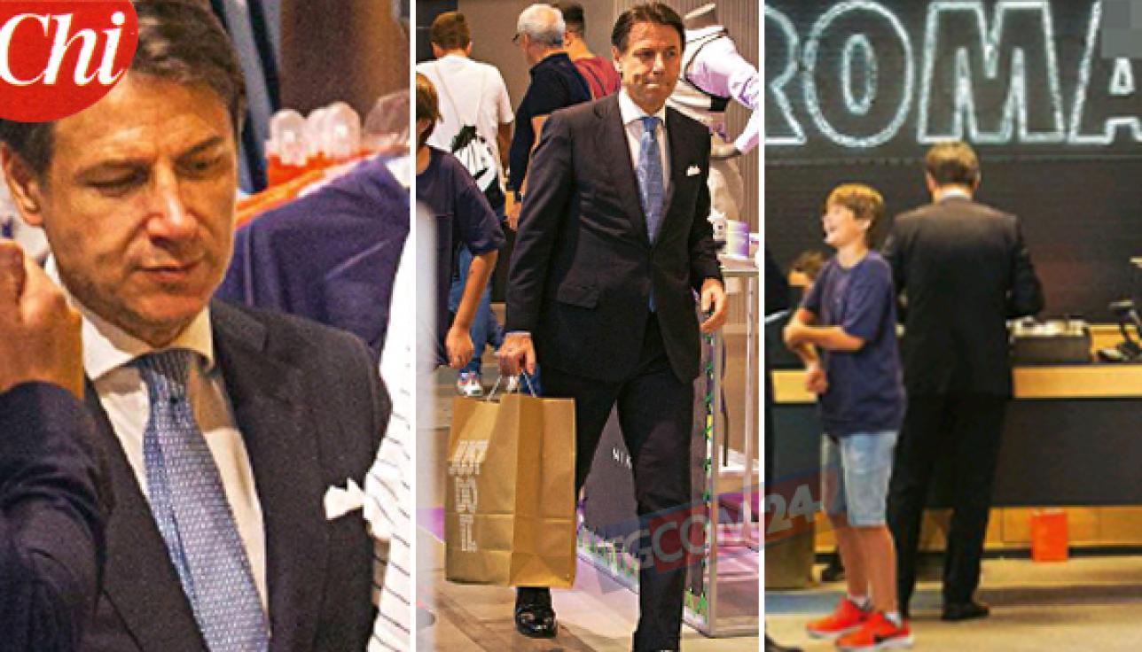 Il premier Conte fa shopping, ecco cosa compra