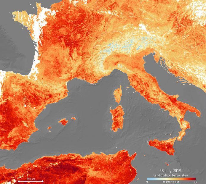 Estate bollente, record in Europa