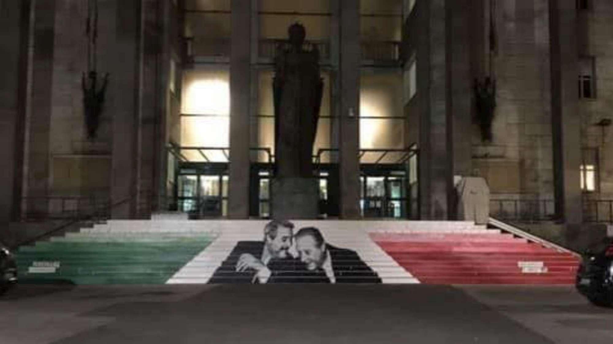 Catania ricorda Falcone e Borsellino, liceali danno vita alla