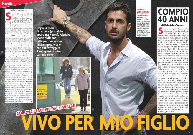 Fabrizio Corona compie 40 anni in cella