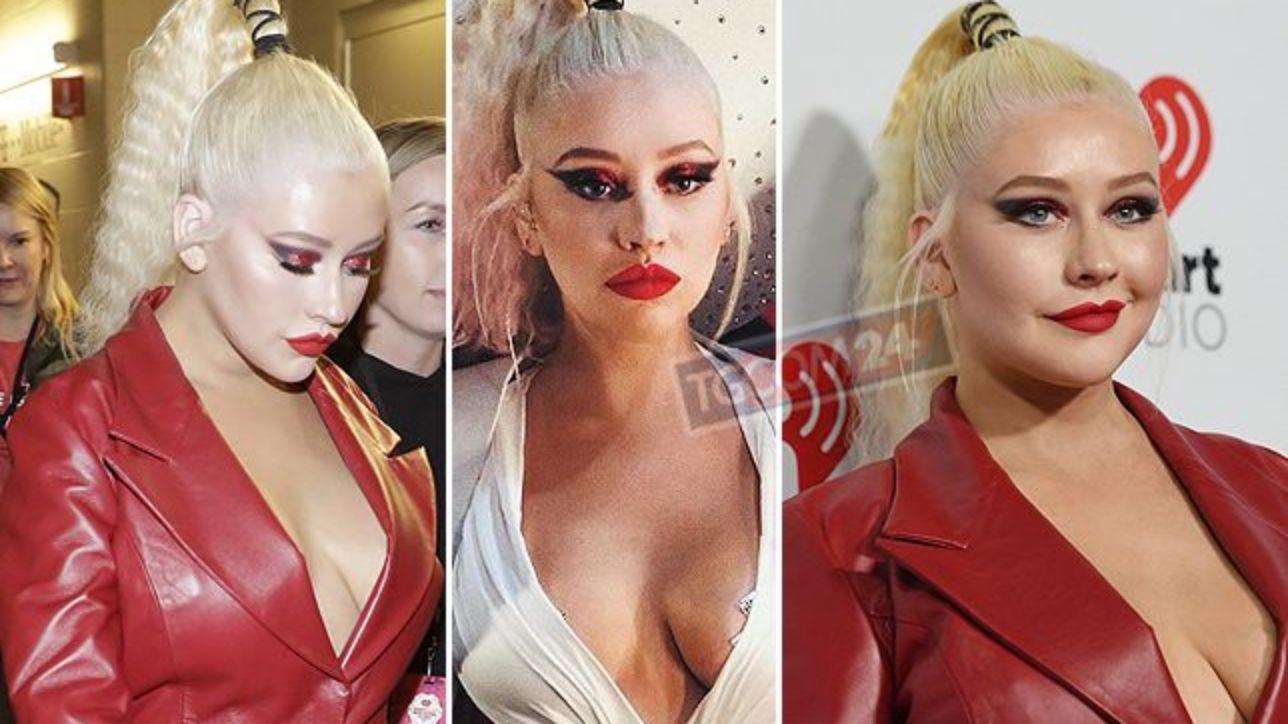 Christina Aguilera dà spettacolo a Las Vegas: niente reggiseno e... copricapezzoli in vista
