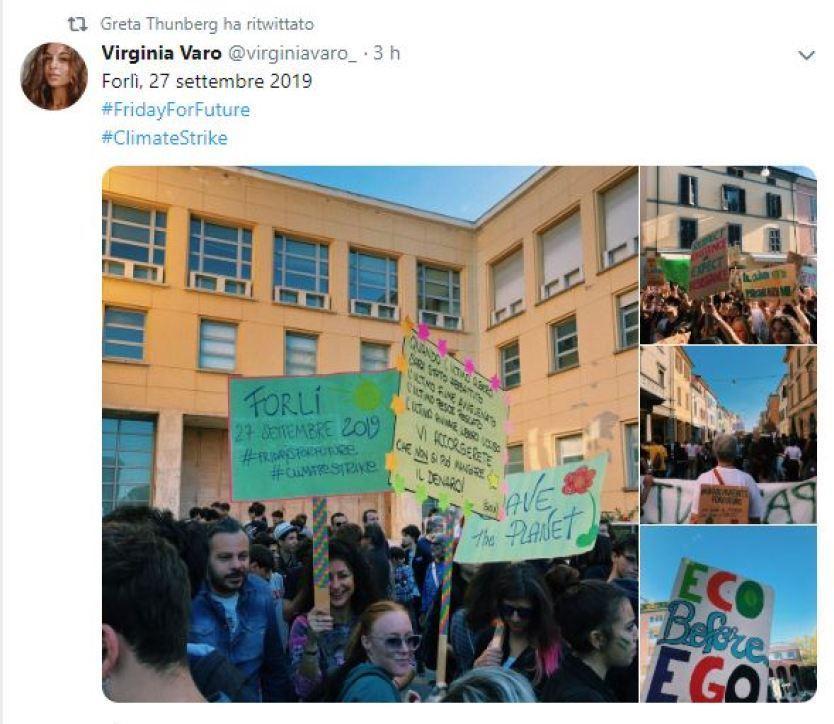Week for future, l'orgoglio di Greta Thunberg per le 180 piazze italiane