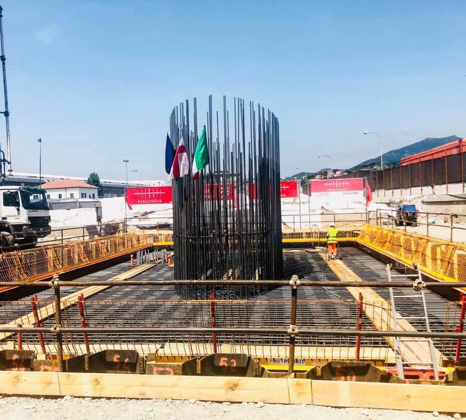 Ponte Genova, al via la ricostruzione: ecco la prima colata di calcestruzzo