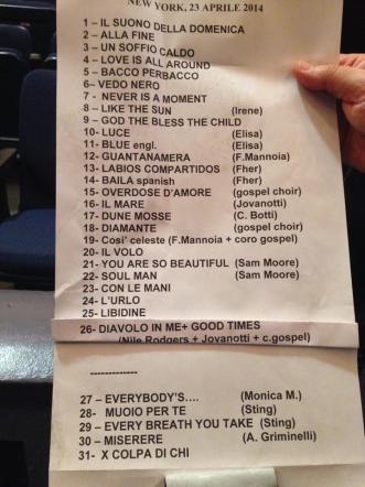 Zucchero travolge New York con Sting, Fiorella Mannoia, Elisa e Jovanotti