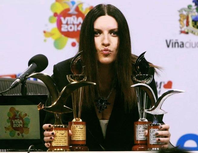 Laura Pausini, regina della musica al Festival Vina del Mar in Cile