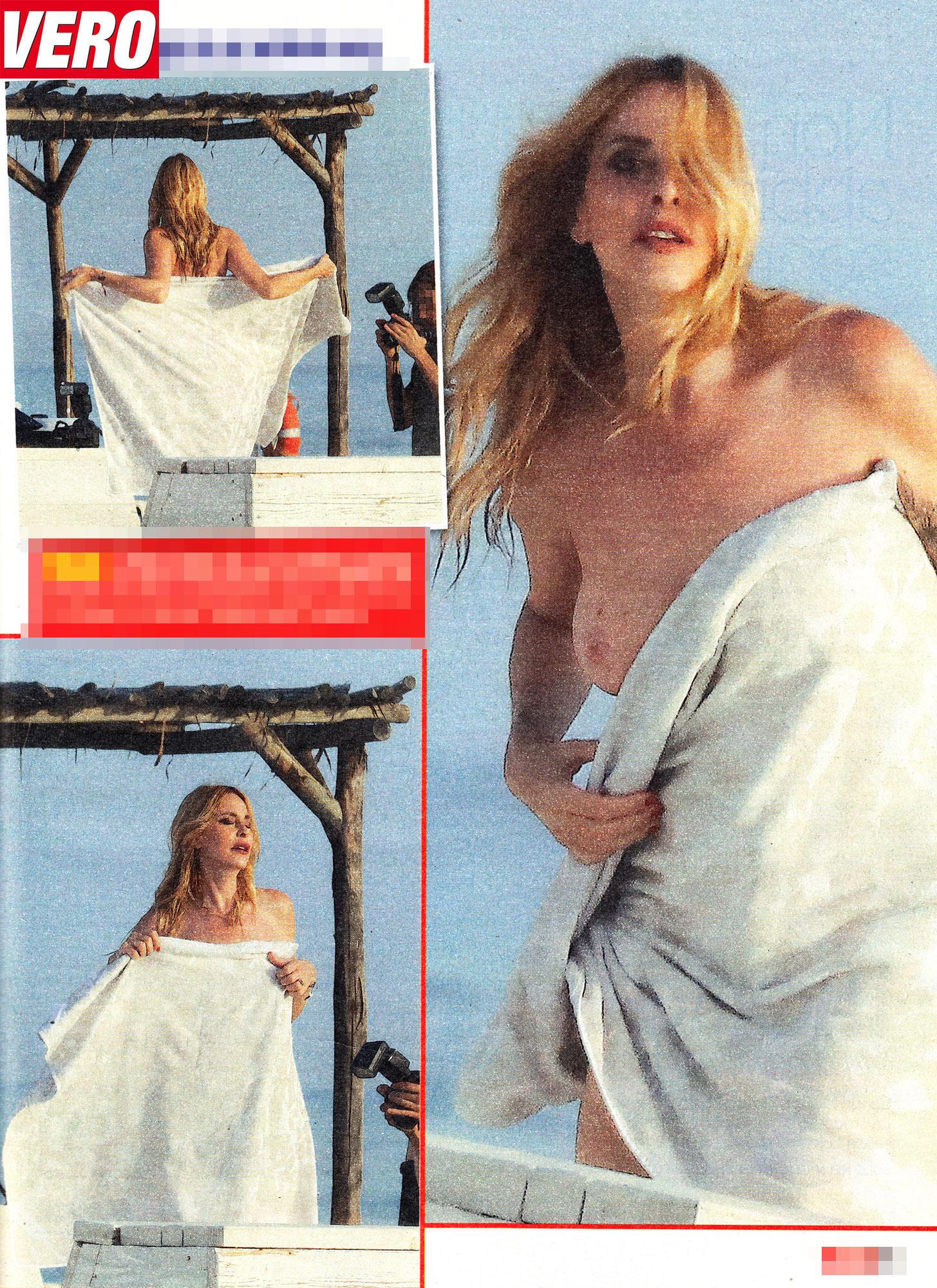 Stefania Orlando, che incidente sexy! Prima del sì resta in topless