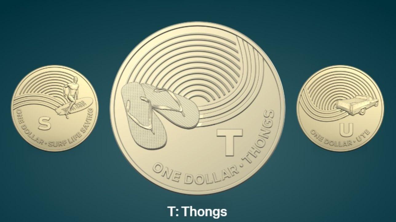 Dalle infradito di gomma agli stendini: ecco cosa c'è sulle nuove monete australiane da un dollaro
