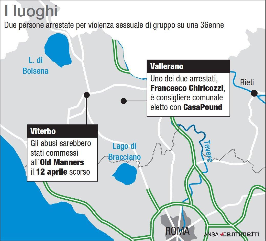 Stupro di gruppo a Viterbo, due arresti