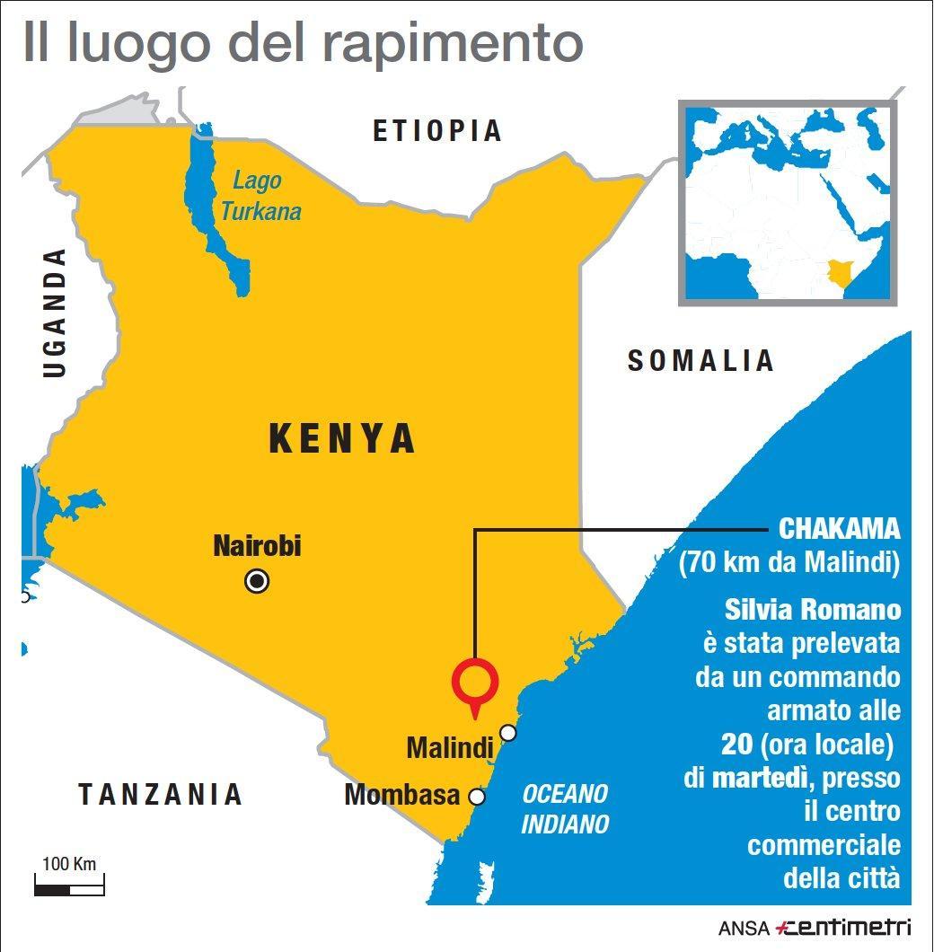 Italiana rapita in Kenya, il luogo del sequestro