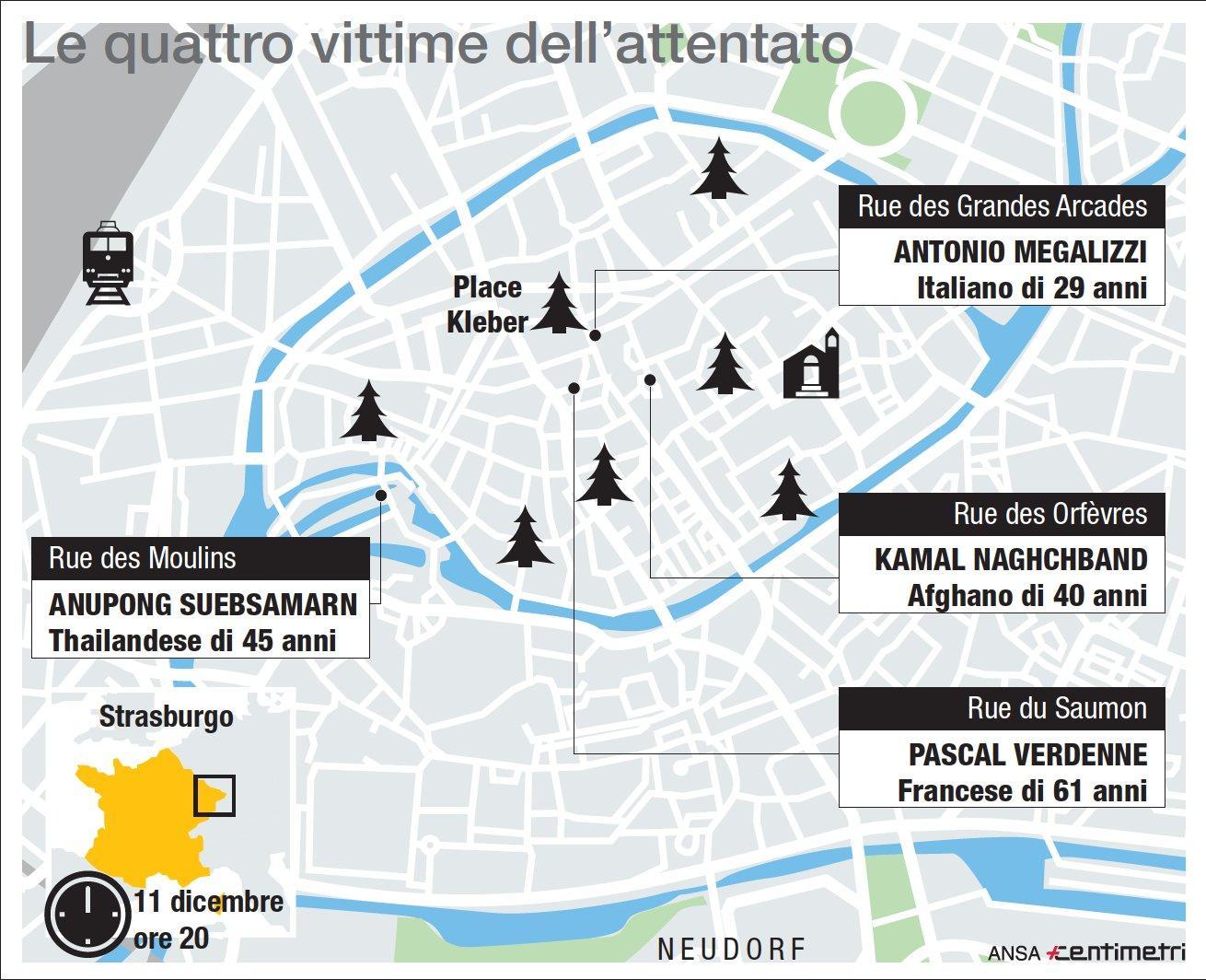 Strasburgo, le quattro vittime dell'attentato
