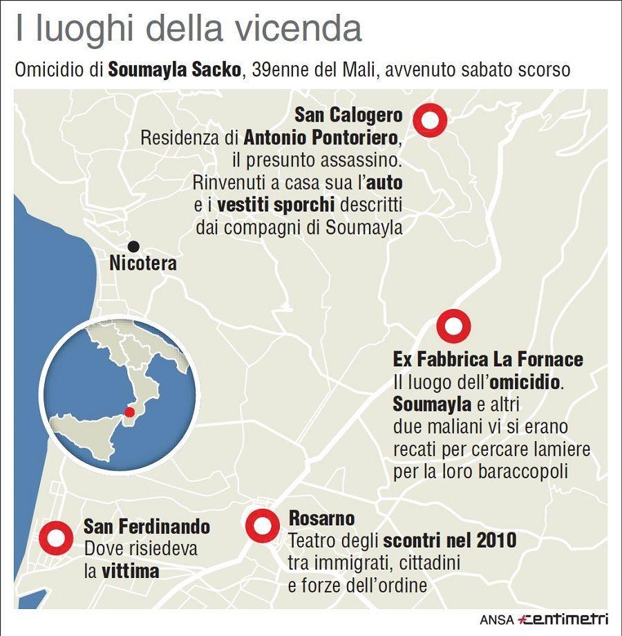 Migrante ucciso in Calabria, tutti i luoghi della vicenda