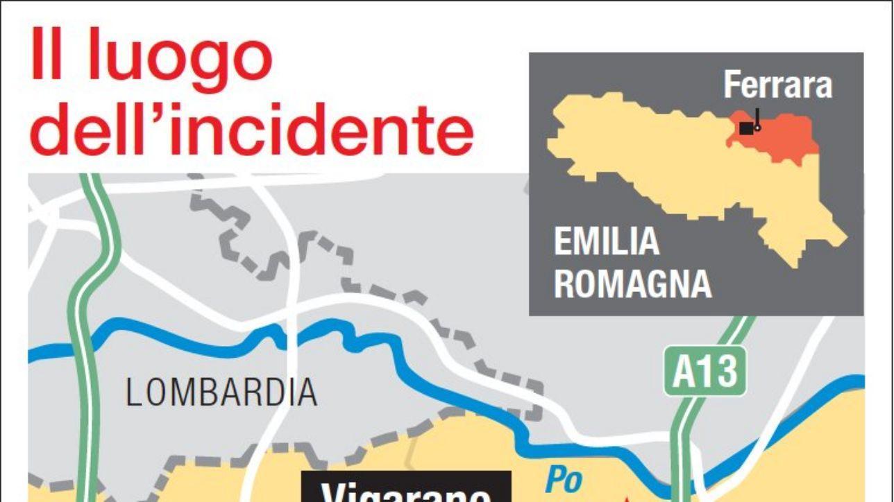 Auto contro albero nel Ferrarese, tre morti: il luogo dell'incidente