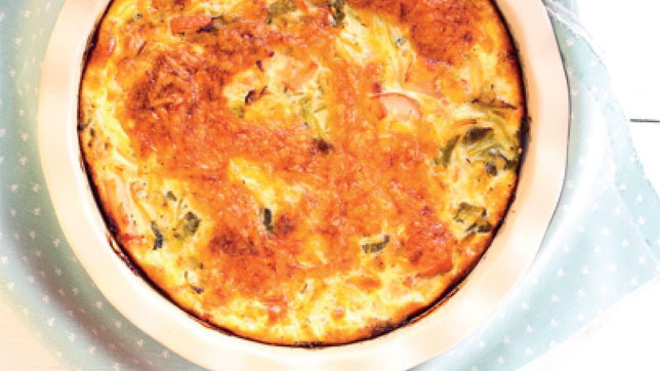 Clafoutis di broccoli alle mandorle