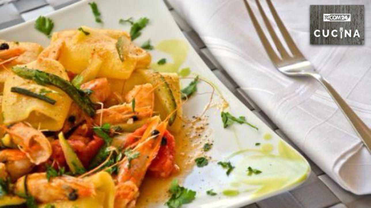 Paccheri gamberi e zucchine