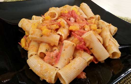 Pasta pomodorini e zucca