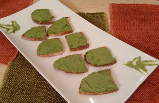 Crostini broccoli e stracchino
