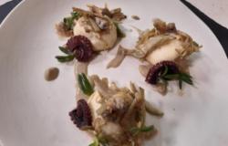 Gnudi toscani con polpo vongole e carciofi